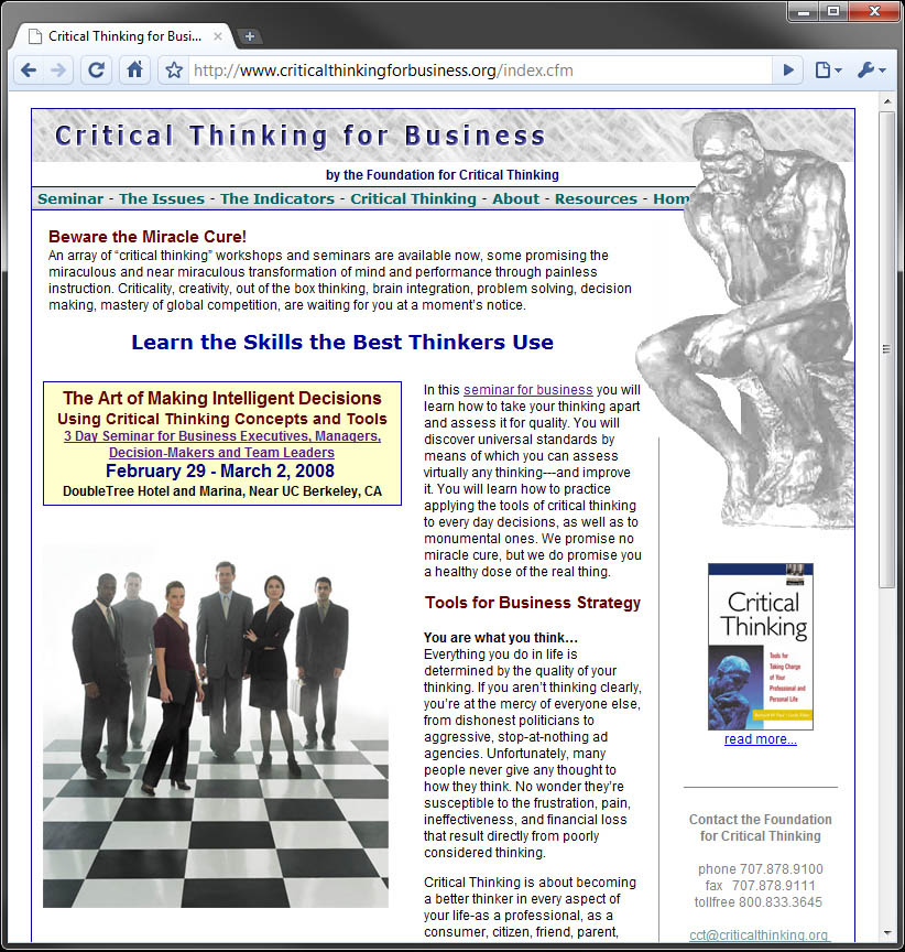 foundation for critical thinking press 2008